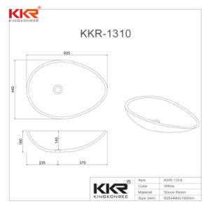 Kkr sanitaires de l'acrylique Surface solide Salle de Bain lavabo