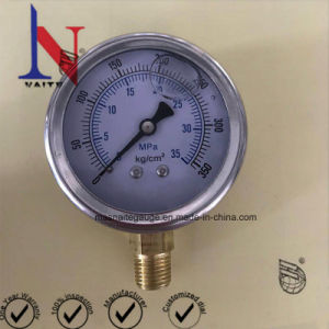 2.5inch最下の糸が付いているステンレス製のStelのケース油圧圧力計