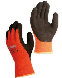 De Calibre 7 gant de sécurité pour l'acrylique Terry l'hiver, avec de la mousse Revêtement nitrile sur Palm et le pouce