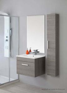 La composizione nel Governo di stanza da bagno ha sospeso lo specchio bianco della parete dei 60 lavandini