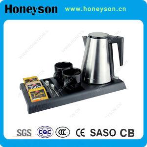 Produit réglé d'hôtel de plateau électrique de bouilloire de Honeyson