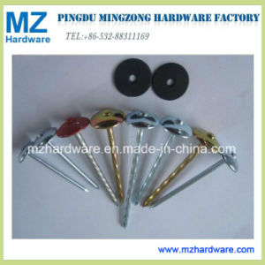 Da cabeça colorida do guarda-chuva da alta qualidade prego Twisted da telhadura da pata