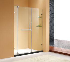 Entes Públicos Pivô sem caixilho porta do chuveiro/duche com vidro temperado