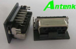 Vga-kurzer Rumpf-weibliche Stecker, Rückwanne Cl=0.35mm