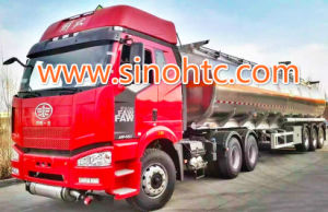 Rimorchio standard della petroliera del rimorchio del camion pesante di Saso