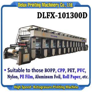 압박 (DLFX-101300D)를 인쇄하는 고속 컴퓨터 통제 자동적인 윤전 그라비어