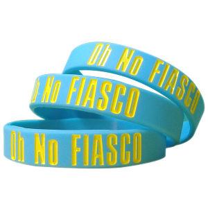 Wristbands del silicone, braccialetto di Debossed, Wristands di gomma