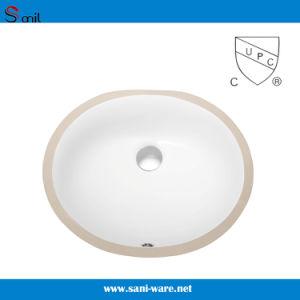 Bacini di ceramica di Undermout di Cupc della stanza da bagno ovale popolare del certificato (SN007)