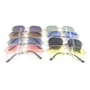 Fabricante de Gran Tamaño del Marco de Colores de Moda las Gafas de Sol Gafas de Sol de Metal para Damas