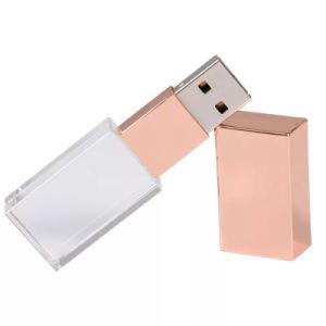 Кристально чистый флэш-накопитель USB 2 ГБ 4 ГБ 8 ГБ 16ГБ 32ГБ 64ГБ Кристал роуз USB Gold подвесной USB-диск пера