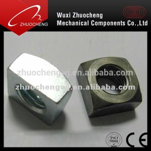 Plaqué zinc DIN557 écrou carré en acier au carbone