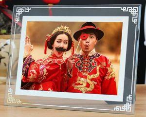 Promoção Publicidade artesanais promocional do álbum de Casamento da placa do visor de vidro cristal moldura fotográfica de imagem Dia feriado do Dia dos Namorados Namorados Dom