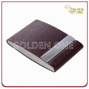 선전용 창조적인 디자인 두 배 열려있는 가죽 카드 홀더