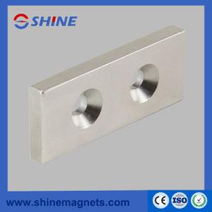 Magnete svasato rettangolare del neodimio nichelato