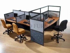 Nouvelle station de travail moderne en bois table utilisée