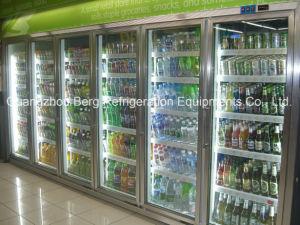 La promenade dans le congélateur de porte en verre pour le supermarché avec la CE
