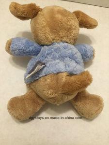Giocattolo di crepitio di Lovey dell'animale farcito della peluche del Brown blu
