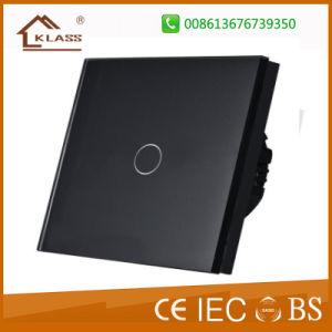 Interruptor de Controle Remoto de Automação Doméstica toque no painel de vidro interruptor elétrico da luz de parede