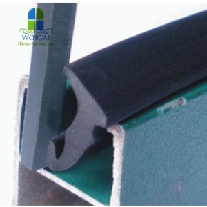 Plástico de PVC Tipo de ranura tira de goma para el sello de la puerta de madera