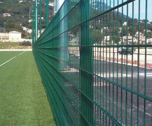 PVCによって塗られる溶接金属の倍の金網の安全塀のパネル