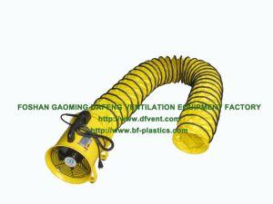 200mm de PVC résistant au feu gaine souple industrielle avec ventilateur portable