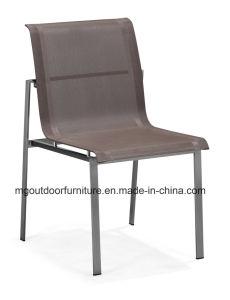 Hot vente de mobilier de jardin Chaise de salle à manger moderne avec des armes en teck