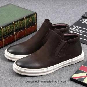 余暇の実質の革人の靴