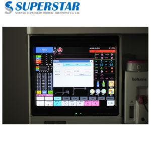 Stazione di lavoro avanzata di vendita calda di anestesia di alta qualità di S6100X con il ventilatore
