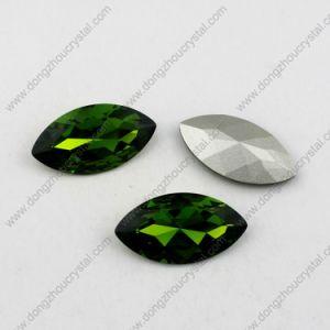 De in het groot Smaragdgroene Stenen van het Kristal Navette voor Directe de Fabriek van de Kleding
