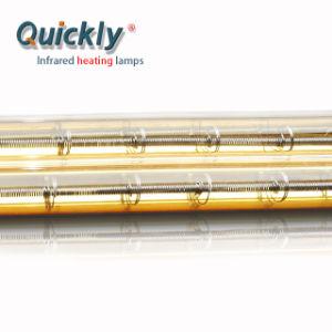Rapidement Golden réflecteur infrarouge à ondes courtes de tubes halogènes en quartz de chauffage de la lampe infrarouge IR