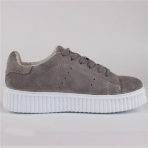 Chaussures femmes Mesdames fashion vache chaussures en daim Sneaker Snc-65002