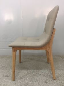 Cadeira de jantar em madeira de PU de fábrica para Home