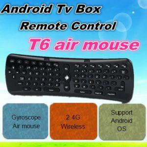 Las nuevas Air Mouse remoto T6 del teclado inalámbrico de 2.4GHz para Android TV Box