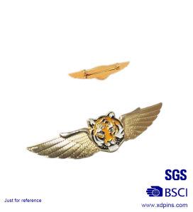 기념품 조종사 (w-232)를 위한 금속 금 비행 조종사 날개 접어젖힌 옷깃 Pin 기장