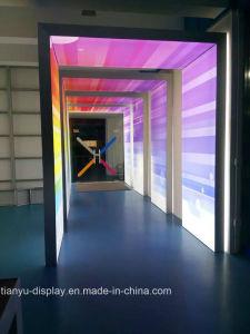 Rainbow аркидвухсторонний рекламы алюминиевые лампа LED ткань блок освещения