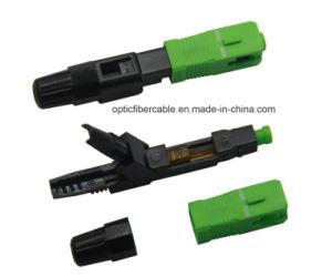 Sc/APC SC/UPC Fibra Óptica Conector Rápido para FTTH Council Cabo