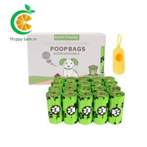 Pbat PLA Pet 100% biodegradables de almidón de maíz bolsa de basura de la bolsa de caca de perro Chaleco Bolsa de compras