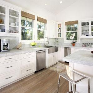 Utilisé en bois stratifié armoires de cuisine en bois
