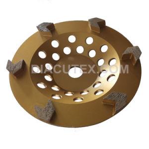 180mm Seg Seta Diamond Rangidos Cup roda para piso de concreto