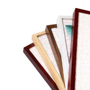 Grãos de madeira Tamanho personalizado a norma CE Foto de alumínio da estrutura de imagem