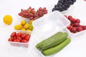Comida de plástico PP Microondas descartável recipiente com tampa (SK)