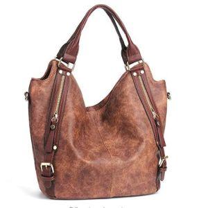 Bolsas de mulheres Hobo Sacos de ombro Tote PU bolsas de couro sacos de grande capacidade de moda Senhora mala