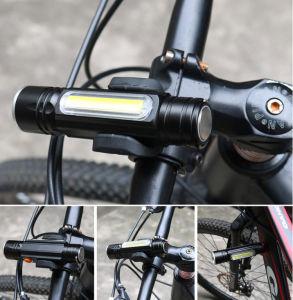 Lanterna LED recarregável USB&Maçarico de Zoom de liga de alumínio
