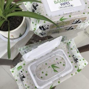 Veegt de Natuurlijke Baby van het Water Purfied van 100% 100% af het Organische Bamboe afveegt