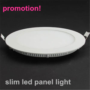 Alto brillo de pantalla plana LED Lámpara 12W con Ra>80, 80lm/W