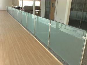 Europen Varanda populares balaustrada/Vidro Temperado Corrimão de vidro com marcação CE