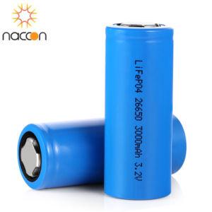 Ciclo de Vida de profundidade de alta capacidade 26650 3000mAh LiFePO4 Bateria recarregável 3.2V