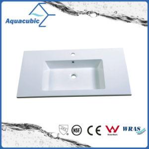 Una sola palanca Polymarble rectangular de disipador de vanidad Acb0916