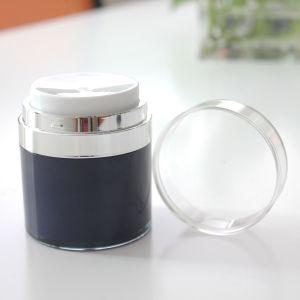 装飾的な包装のための高品質の明確で空気のないクリーム色の瓶30g 50g