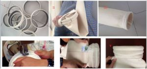 Rifornimento PPS della fabbrica della Cina che mescola il sacchetto filtro composto di PTFE per la centrale elettrica